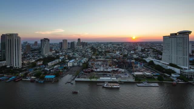 Light of twilight in Bangkok video