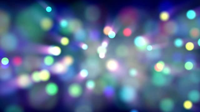 Light particles bokeh loop moving video