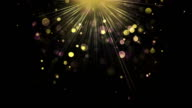 Light rays and particles loopable background video