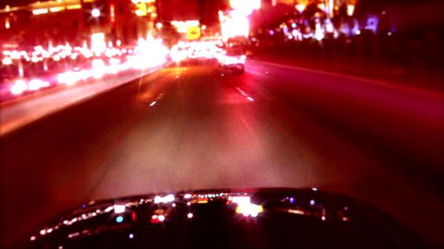Light Reflections on Car Camera POV video