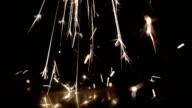 Light sparkles video