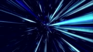 Light speed tunnel background video