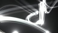 Light Streaks Background Loop - Black and White (Full HD) video