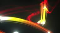 Light Streaks Background Loop - Fiery Red (Full HD) video