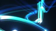 Light Streaks Background Loop - Glowing Blue (Full HD) video