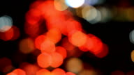 light traffic on street in The city lights Motion blur and Abstract background bokeh video
