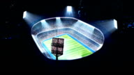 Lighted stadium, rugby arena. video