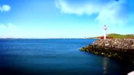 Lighthouse and Beautiful Sea, Howth, Dublin Bay, Tile Shift, Ireland video