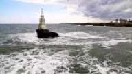 Lighthouse and seaway video