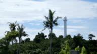 lighthouse and tropical palms.Malapascua Island video