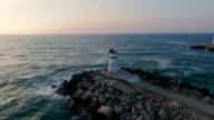 Lighthouse at Black Sea video