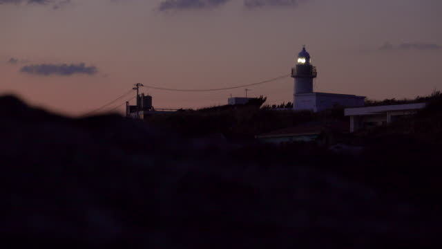 Lighthouse at night video