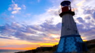 Lighthouse at Sunset. video