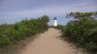 Lighthouse at the End of Sandy Path video
