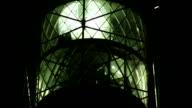 lighthouse closeup at night video