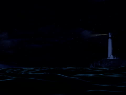 Lighthouse in Stormy Seas - PAL video