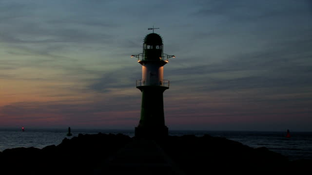 lighthouse in sunset video