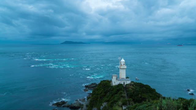 Lighthouse in the early morning light video