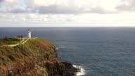 Lighthouse on Coastal Cliff video