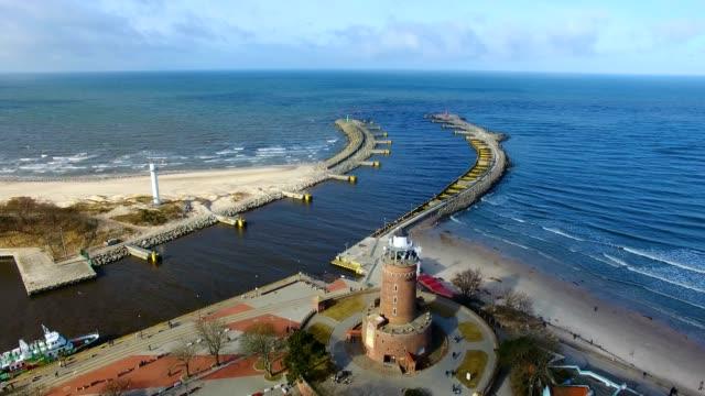 Lighthouse on the baltic seashore video