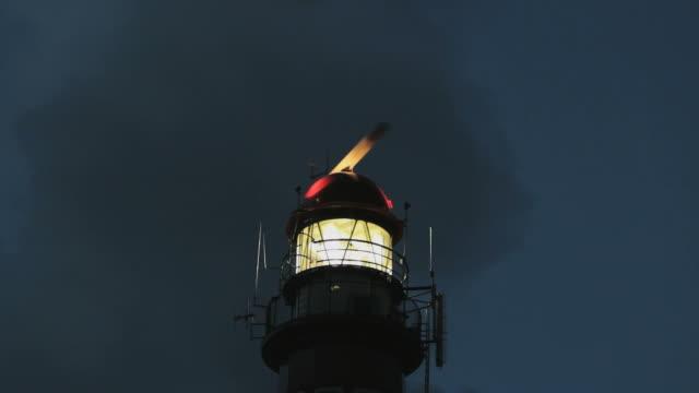 Lighthouse on the island of Schiermonnikoog, closeup video