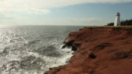 Lighthouse Overlooking Red Cliffs video
