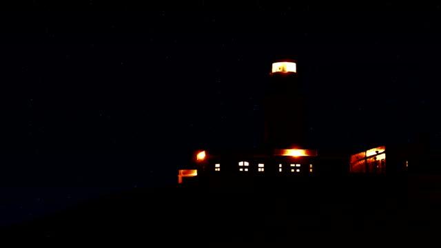 Lighthouse. Seamless loop video