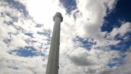 lighthouse with blue sky,clouds.Malapascua Island video