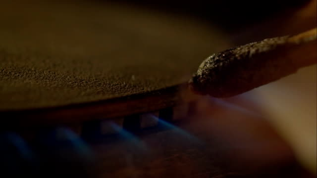 Lighting a stove with a match video