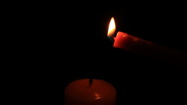 Lighting Candle. video