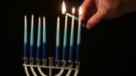 Lighting the menorah video
