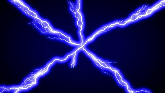 Lightning across screen video