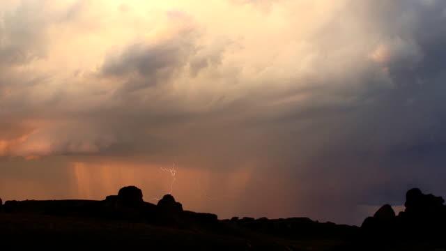 Lightning at dusk video