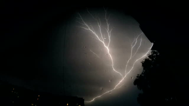 Lightning At Night From The Window video