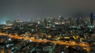Lightning in city video