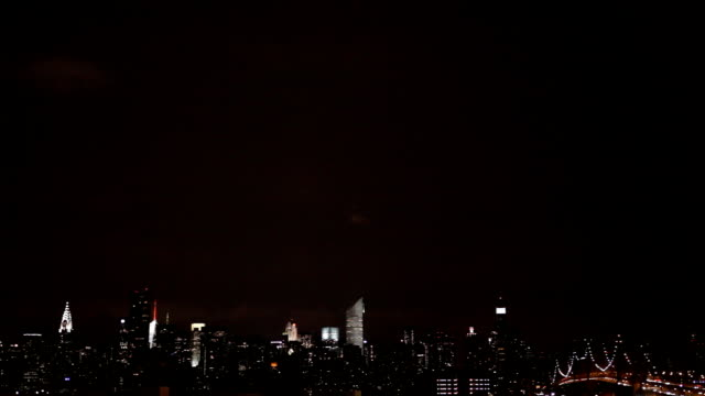 Lightning Over the Manhattan Skyline video