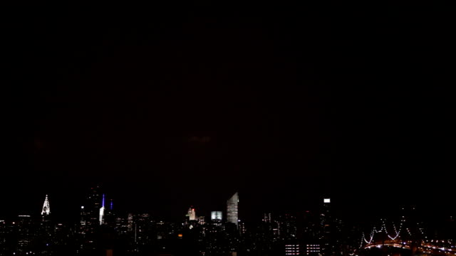 Lightning Over the New York City Skyline video