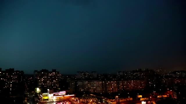 Lightning strikes timelapse video