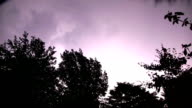 Lightnings at summer night video