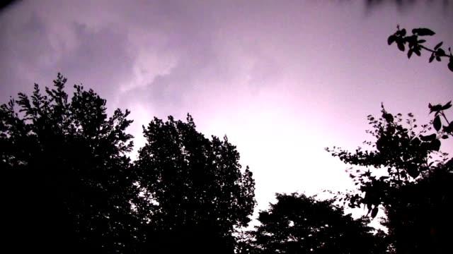 Lightnings at summer night video