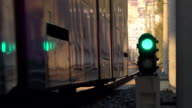 lightrail driving on track video
