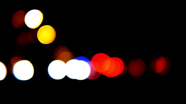 HD - Lights of the big city. traffic video
