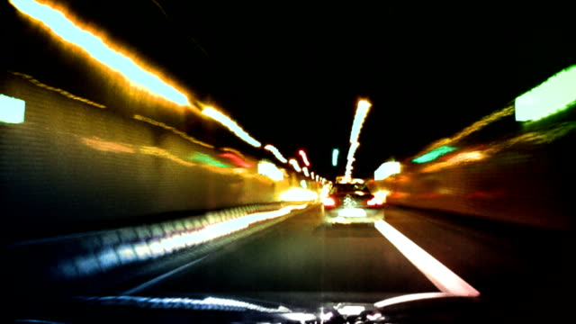 Lights Streaks Through Tunnel video