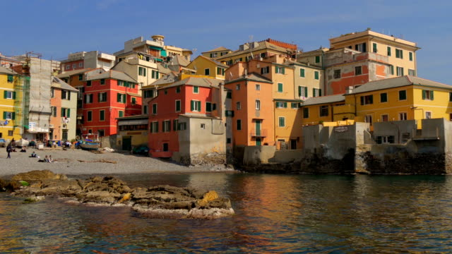 Liguria, Italy, Genoa Boccadasse cityscape video