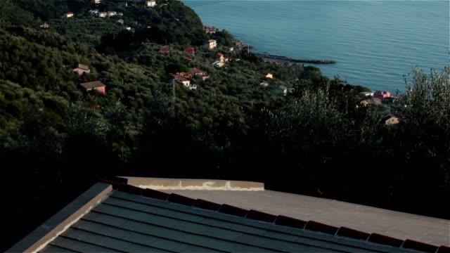 Ligurian peninsula tilt up video