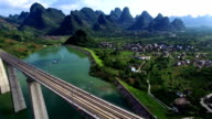 Lijiang River and Guilin High Speed Rail video