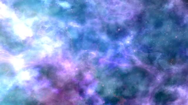 Lilac-Blue Space Nebula Background video