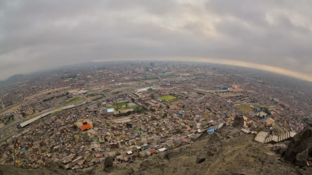 Lima Cityscape Time Lapse Fisheye HDR video