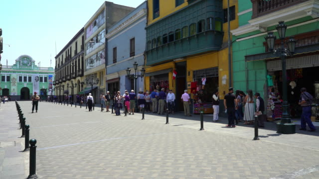Lima Historical District Pedestrian Zone video