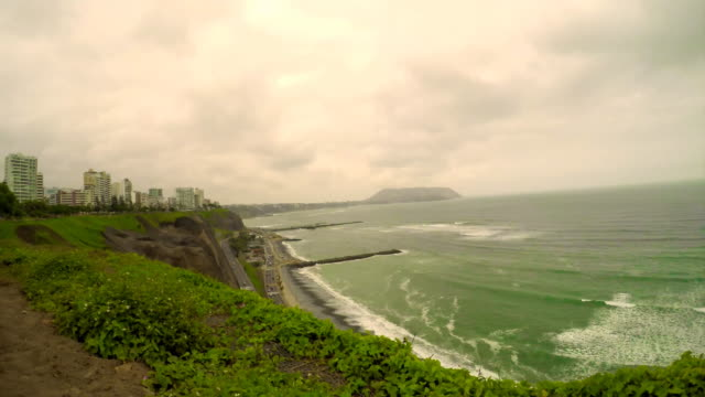 Lima in the time of garua, Miraflores, Peru time lapse video video